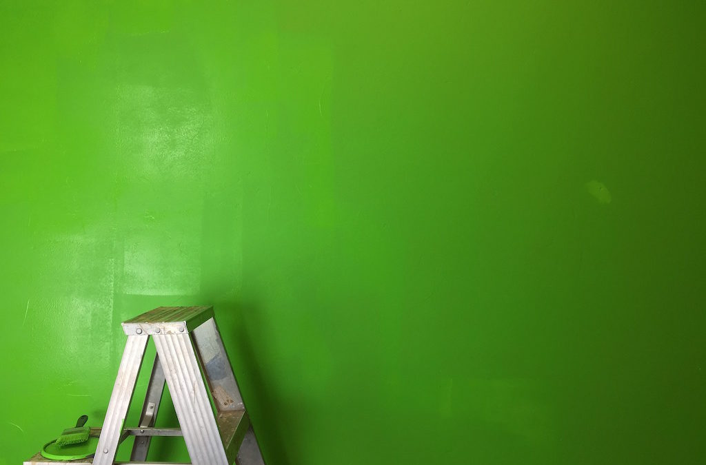 ladder-paint-green
