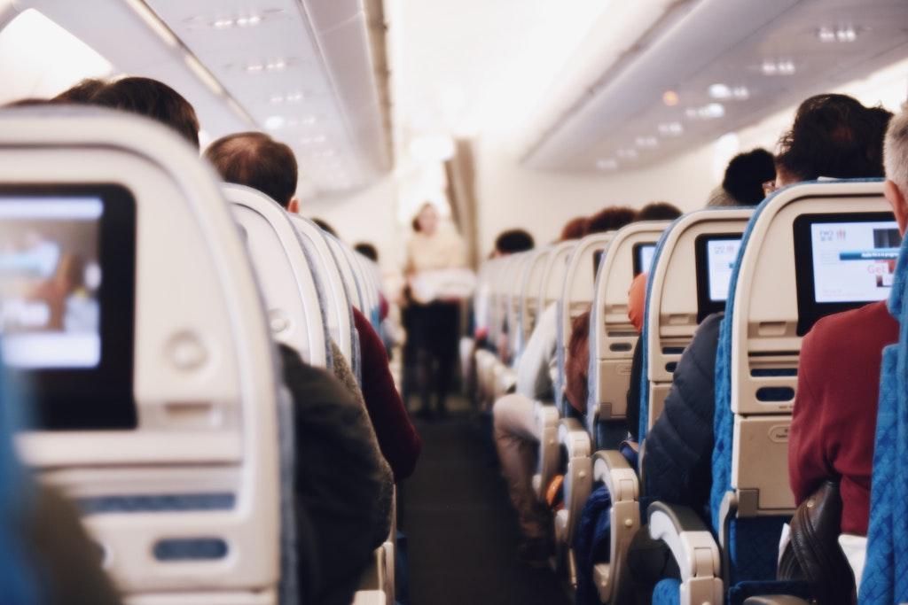 Airplane passanger